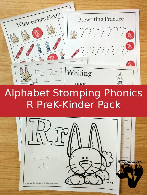 Free Letter R Phonics Pack