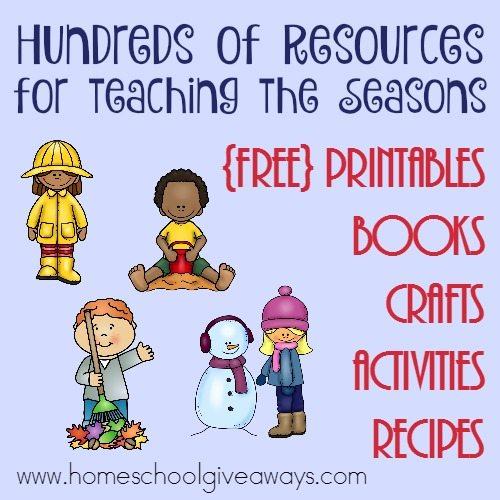 Free Preschool Teaching the Seasons Printables