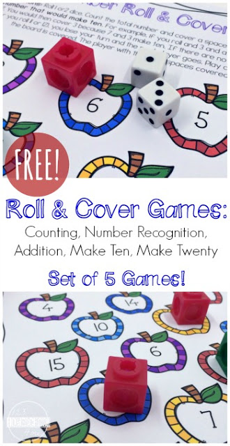 5 Free Roll & Cover Math Games