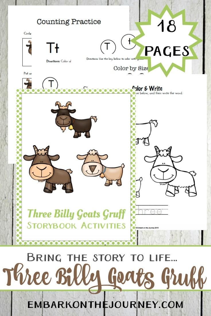 Free Three Billy Goats Gruff Printables