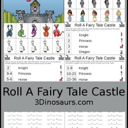 FREE Roll A Fairy Tale Math Game