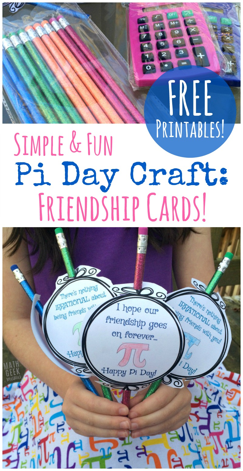 Cute Pi Day Printable Cards Freebie