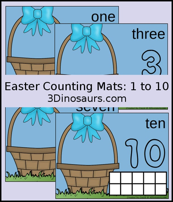 Free Easter Egg Counting Mats