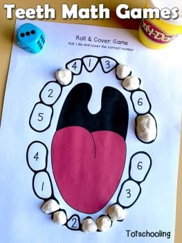 Free Teeth Number Printables for Preschool