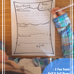 Daily Diary Journal Pages for Kids