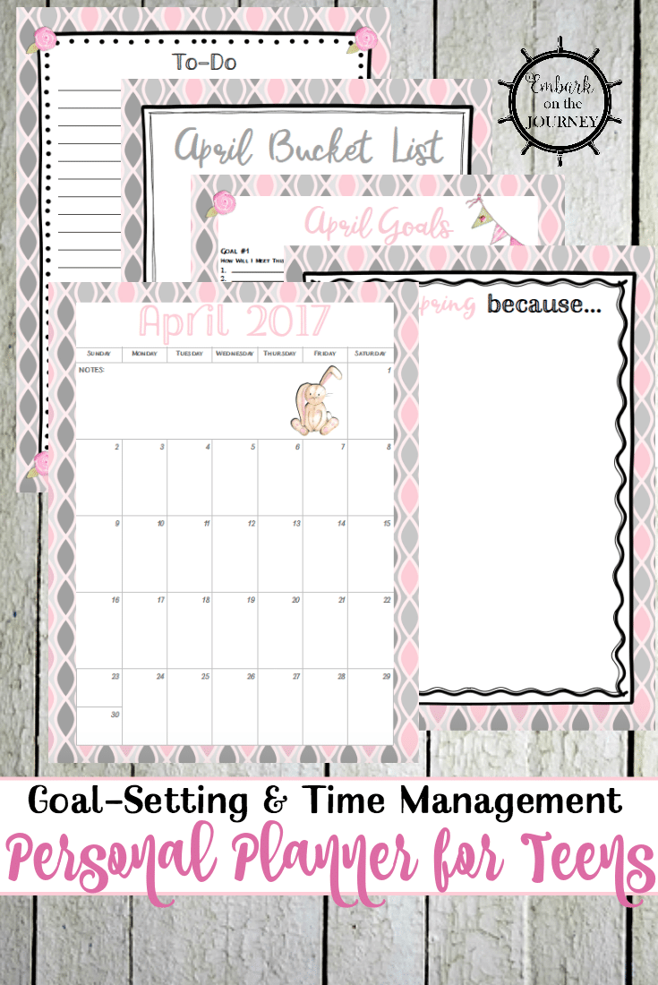 photograph relating to Free Personal Planner Printables identify No cost April Individual Planner Internet pages for Adolescents