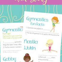 FREE GYMNASTICS MINI UNIT STUDY (Instant Download)