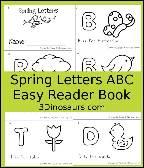 Free Spring Letters ABC Easy Reader Book