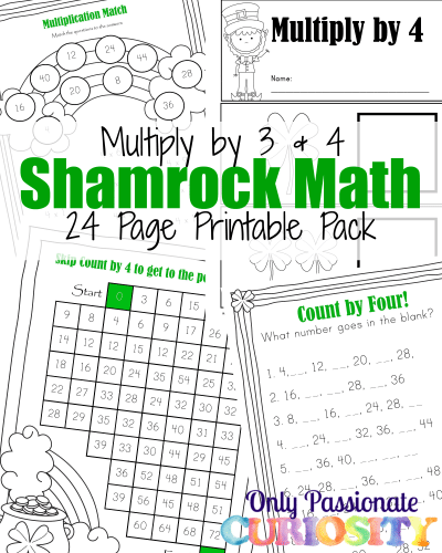 Free Shamrock Math Times Tables Printables