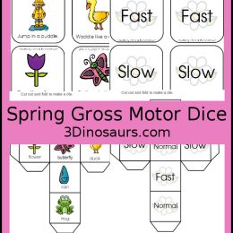 Free Spring Gross Motor Dice Activity