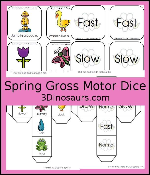 Free Spring Gross Motor Dice Activity