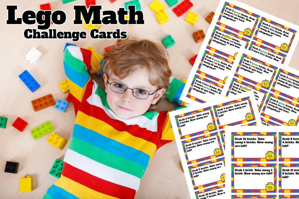 Free LEGO Math Challenge Cards