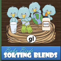 FREE Blue Bird Sorting Blends Activity