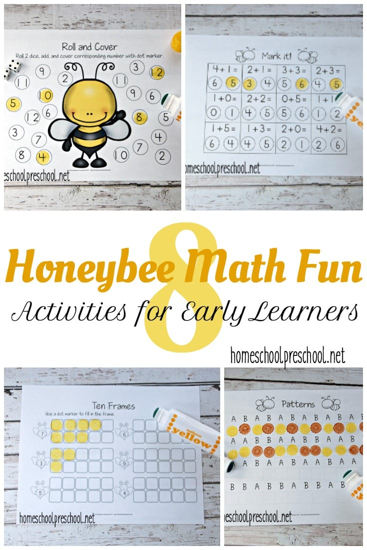 Free Honeybee Math Worksheets For Prek K