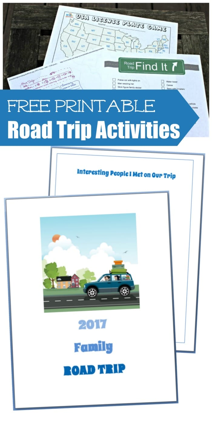 Free Printable Road Trip Activities