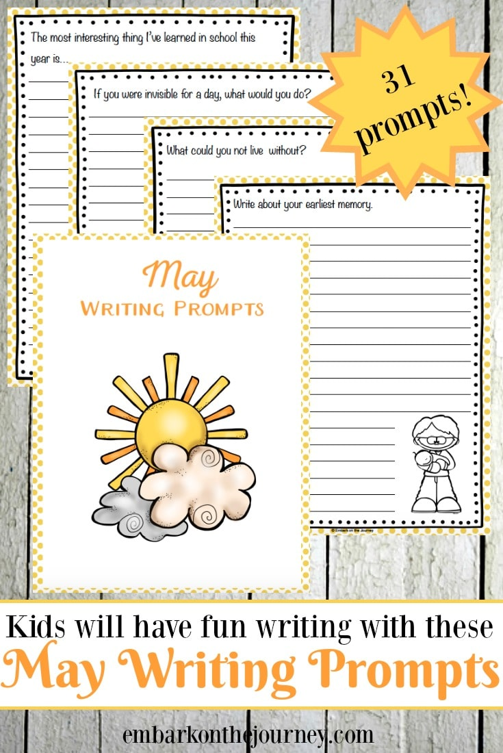 Free May Elementary Writing Prompts