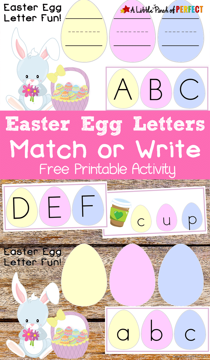 Free Easter Egg Letter Matching Worksheets