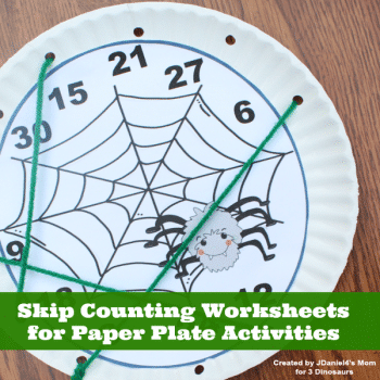 Free Spider Skip Counting Activity