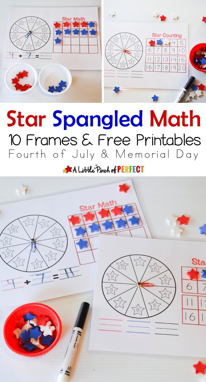 Star Spangled Math Printables