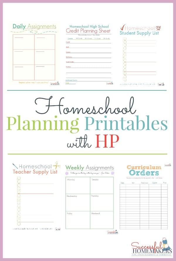 Free Homeschool Planning Printables