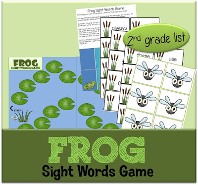 Free Frog Sight Word Game