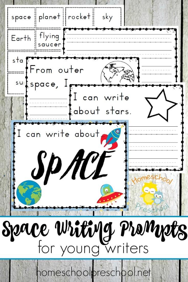 Free Preschool Space Writing Prompts