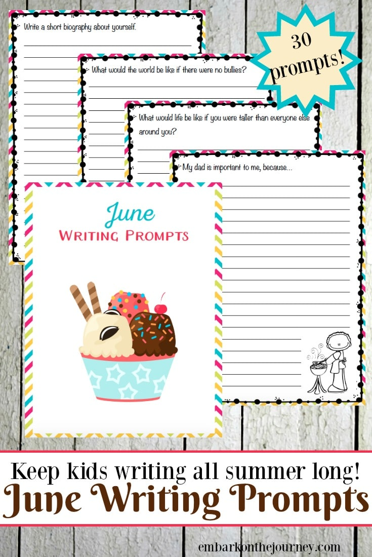Free June Elementary Writing Prompts