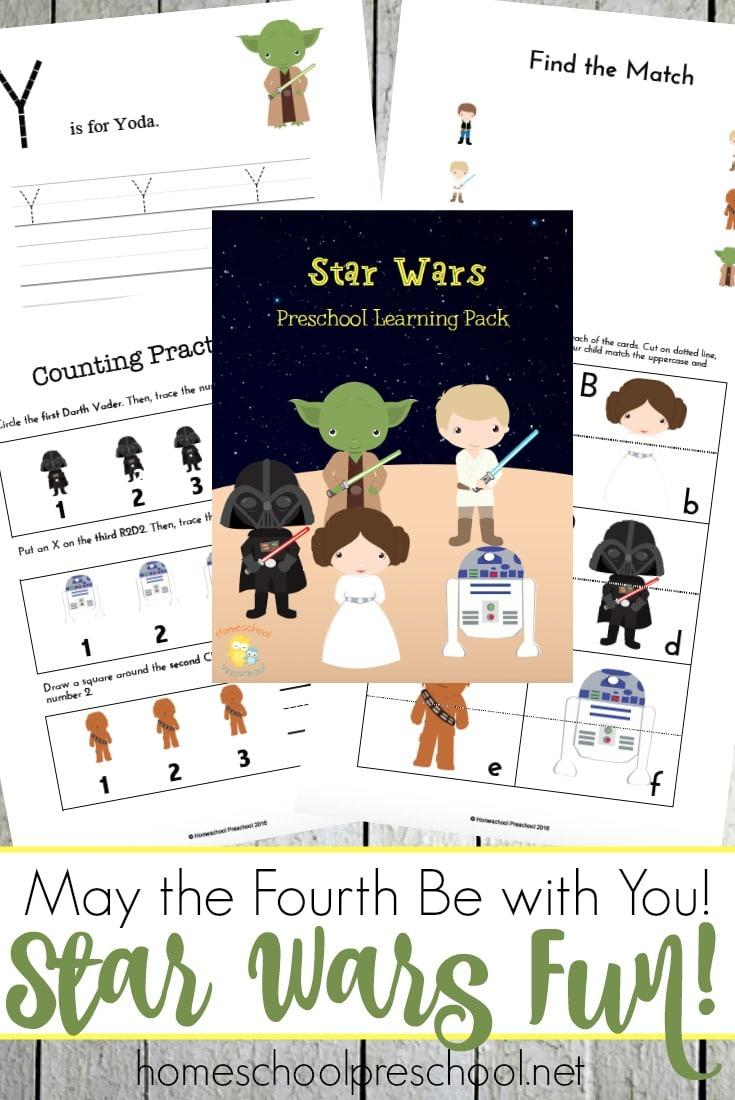 Free Star Wars Preschool Pack