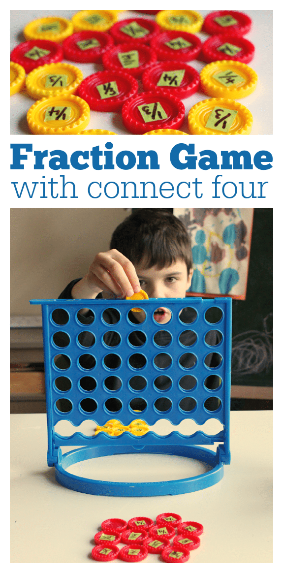 fraction game using Connect Four
