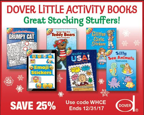 25% Off Dover Little Activity Books - Great Stocking Stuffers!