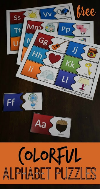 Free Alphabet Puzzles