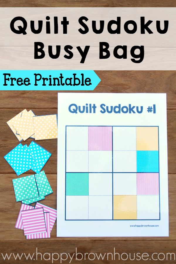 Quilt Sudoku Busy Bag