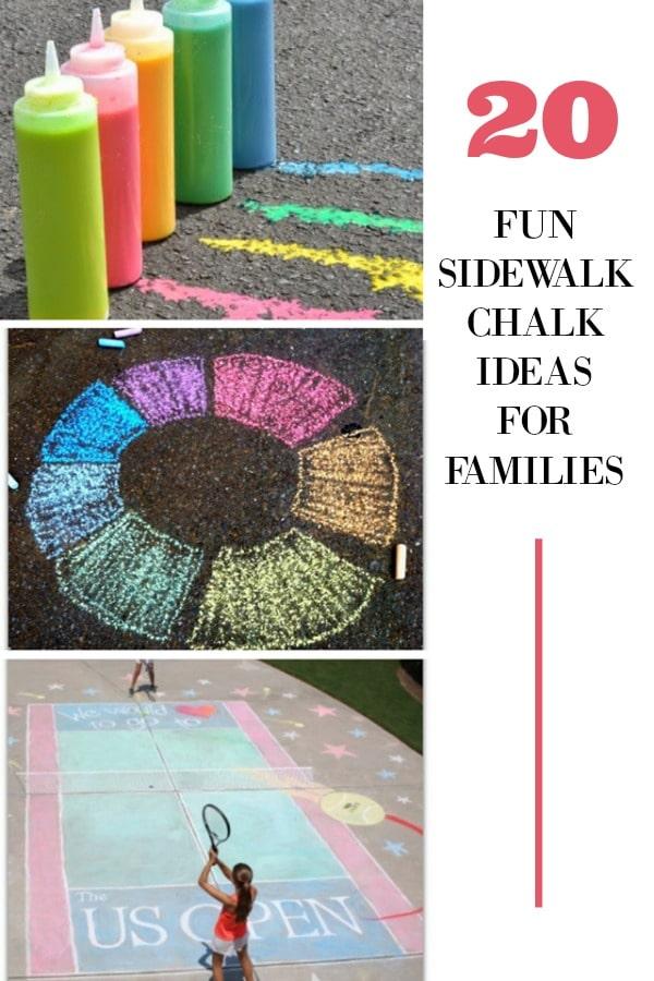 Fun sidewalk chalk ideas