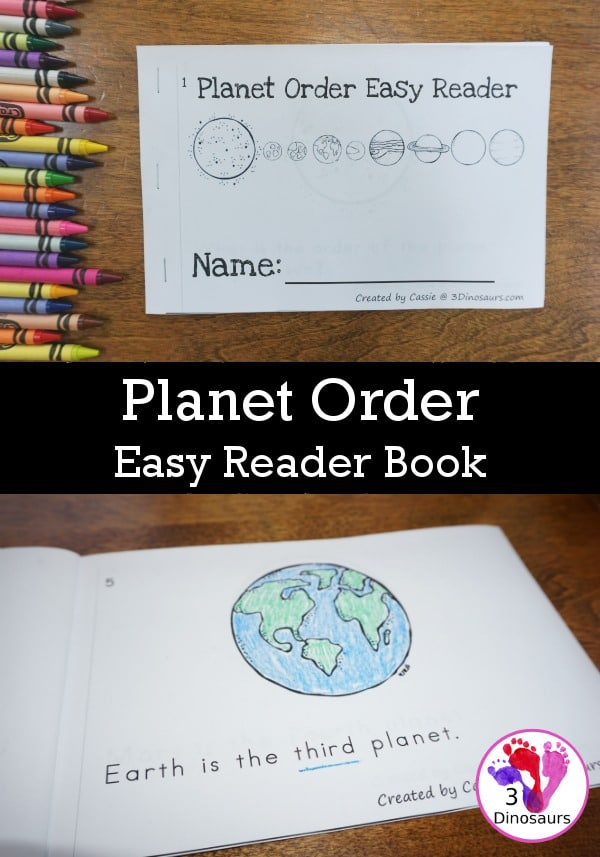 Free Order of the Planets Easy Reader