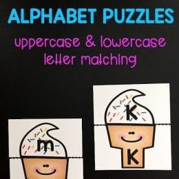 Free Ice Cream Alphabet Puzzles