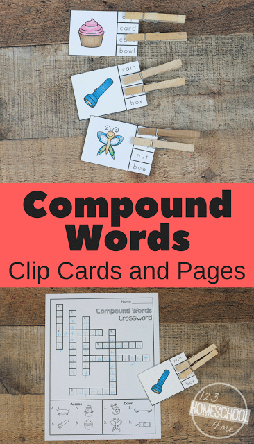 Free Compound Words Clip Cards