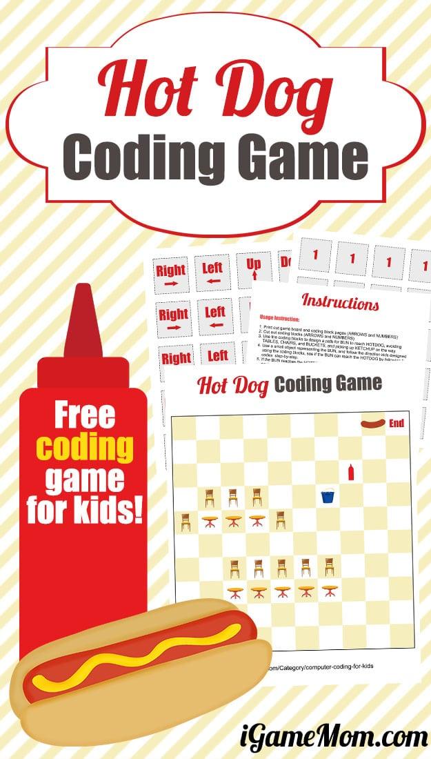 Free Hot Dog Coding Game
