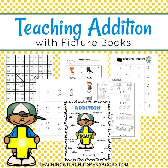 Free Teaching Addition with Picture Books Printables