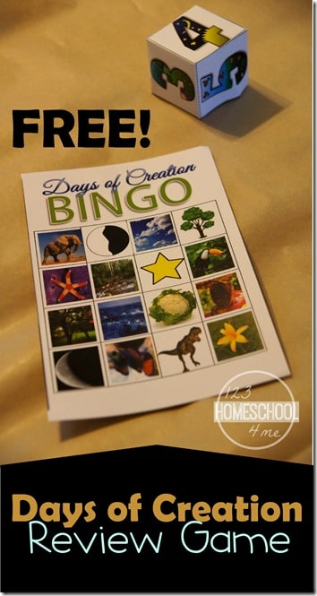 Free Days of Creation BINGO Printables