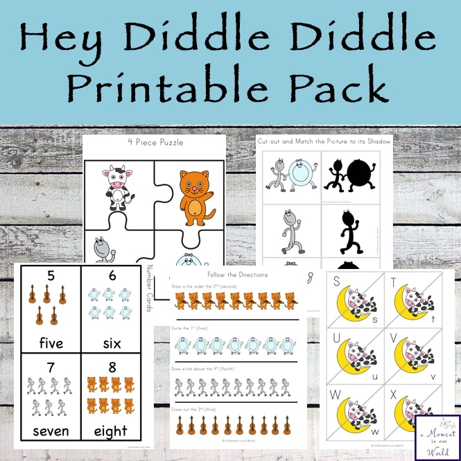 Free Hey Diddle, Diddle Printable Pack