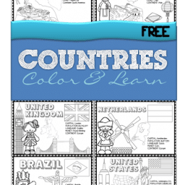 FREE Countries of the World Printable Book