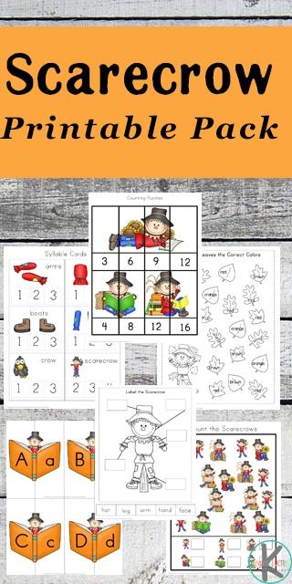 Free Scarecrow Kindergarten Worksheets