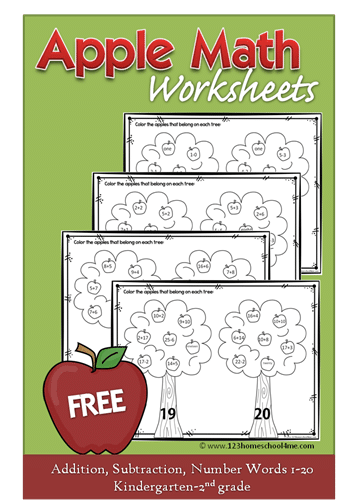 Free Apple Math Worksheets