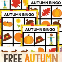 FREE AUTUMN BINGO GAME (Instant Download)