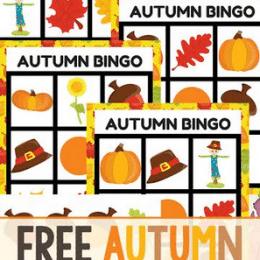 You will love this FREE Autumn Bingo Game! #fhdhomeschoolers #freehomeschooldeals #autumnresources #homeschoolgames #hsfreebies