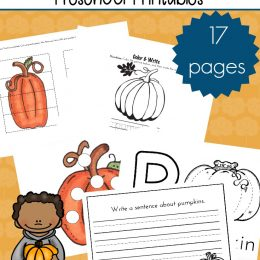 FREE Pumpkin Patch Printables for Pre-K
