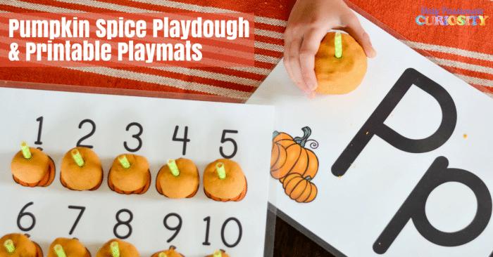 Free Pumpkin Playdough Mats