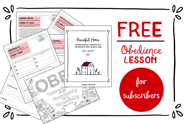 Free Obedience Lesson Printables