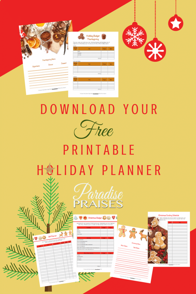 Free 2017 Printable Holiday Planner