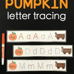 Free Pumpkin Letter Tracing Cards